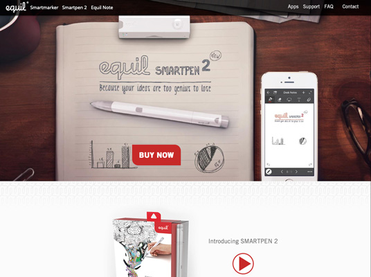 Website for eBeam and Equil Smart Pens for Luidia