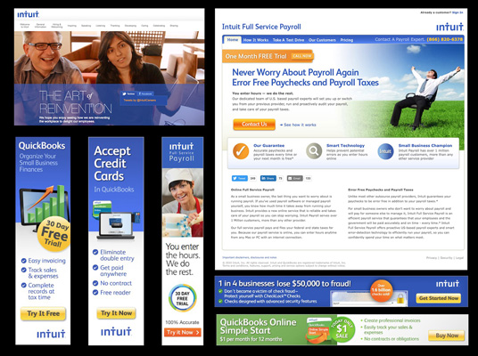 Over 100 projects designed by Munson Design for Intuit®