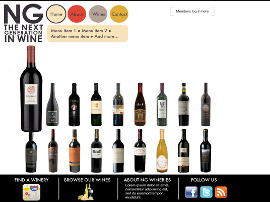 Website for NG Wine In 2010