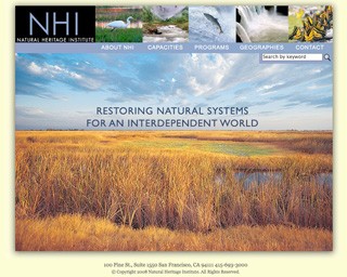 Website for the The Natural Heritage Institute